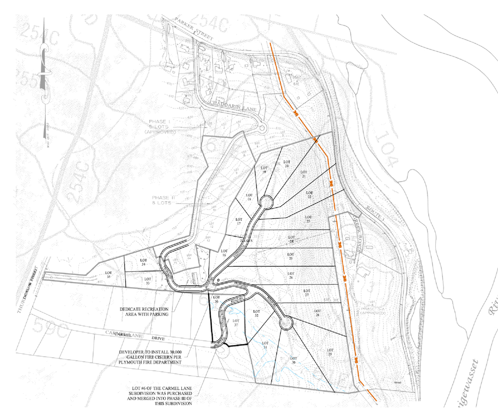 Sample Subdivision Plan with Plots and Road Design