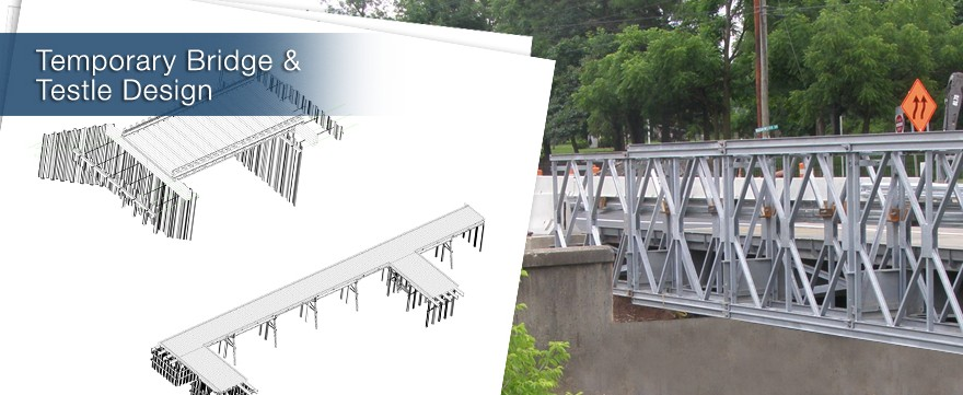 Design of temporary construction support systems to facilitate heavy and highway construction.